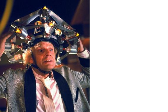 Primary image for Back To The Future Christopher Lloyd Vintage 8X10 Color Movie Memorabilia Photo