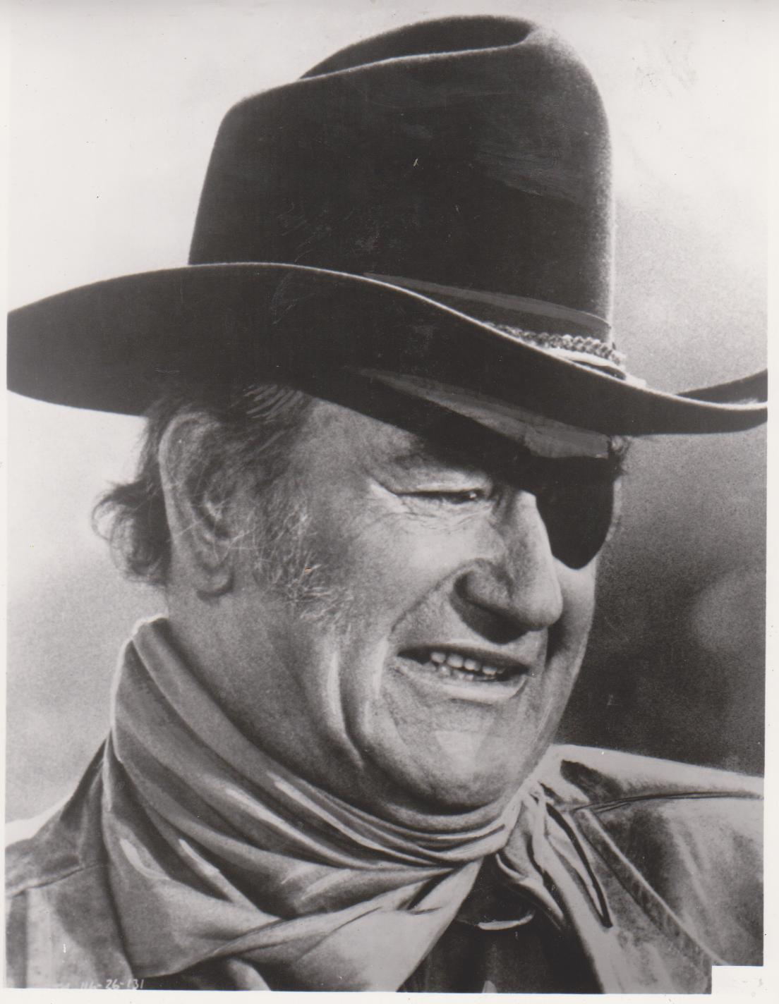 Primary image for True Grit QP John Wayne Vintage 8X10 BW Western Movie Memorabilia Photo