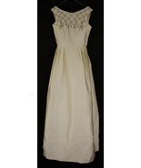 Vintage Champagne Sleeveless Wedding or Formal Gown with Beading - $109.99