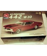 '69 Oldsmobile 4-4-2 W-30 1/25 Scale AMT1996 Model Kit Level 2 MIB Shrin... - $19.95