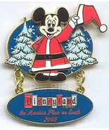 Disney Christmas Merriest Place on Earth Santa Mickey Dangle LE 1500 pin - $9.79
