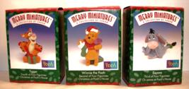 Hallmark- Merry Miniatures 1999, 25 Years of Charm figures-Pooh-Tigger-Eeyore - $14.99