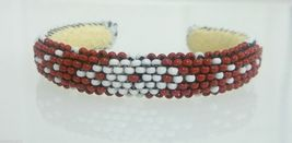 Native American Cut Glass Beaded Handmade Cuff ... - $39.99