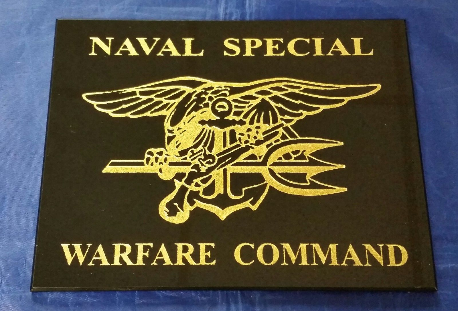 "Primary image for Naval Special Warfare Command SEAL Team 6 SEAL Trident Logo Center 9"" X 6"" Sign"
