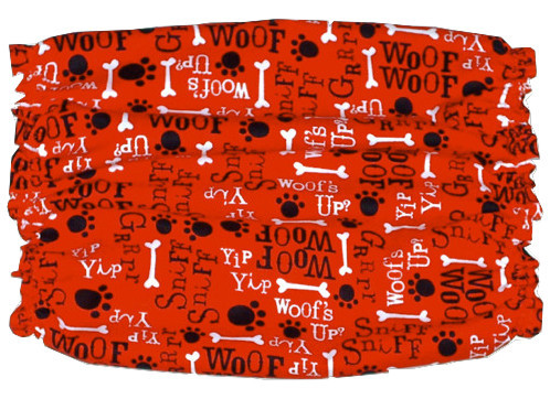 Dog Snood Red Black White Woofs Up Cotton Basset Afghan Size Puppy REGULAR