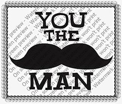 "2"" Cupcake (12 Per Sheet) - You the Man Mustache Birthday - Edible Cake ... - €7,31 EUR"