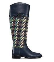 Tory Burch Miller Riding Boot, Tweed Bright Navy/Green Dogtooth $568.00 ... - $445.00