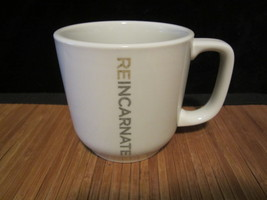 2009 Starbucks Reincarnate Coffee Mug Tea Cup White with Grey Logo Toki ... - $15.99