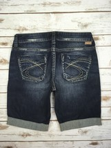 SILVER JEANS SHORTS Buckle Mid Rise Lola Denim Jean Stretch Cuffed Short... - $19.97