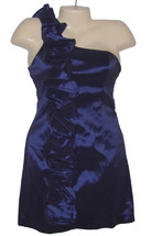 Womens Dress Size S One Shoulder Mini Purple Ruffle Romeo & Juliet Couture - $14.00
