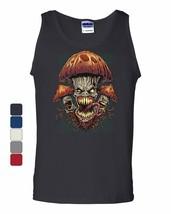 Evil Mushrooms Tank Top Halloween Hallucinations Nightmare Spooky Sleeveless - $13.03+