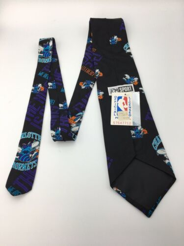 Vintage Ralph Marlin Mens Neck Tie Charlotte Hornets Basketball Unworn w tag  image 3