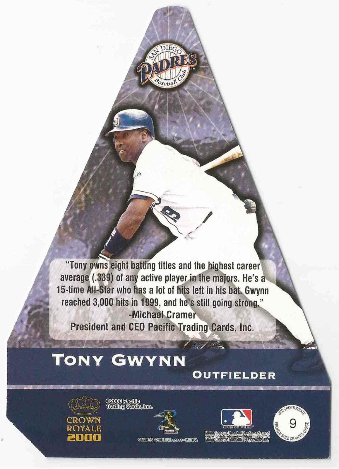 2000 Crown Royale Tony Gwynn San Diego Padres #9 - MINT