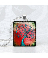 TREE Pendant, Tree Jewelry, Tree Charm, Scrabble Tile Art Pendant Charm,... - $9.95