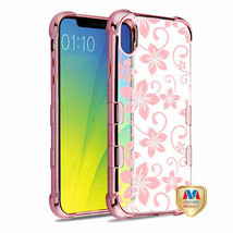 For APPLE iPhone XS Max Hibiscus Flower TUFF Klarity Candy Case Cover - $11.07