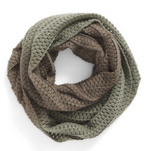 BP Women's Ombré Knit Infinity Scarf Olive Gradient Green Ombre Winter - £22.46 GBP