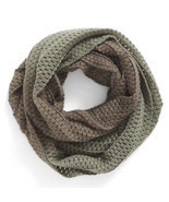 BP Women's Ombré Knit Infinity Scarf Olive Gradient Green Ombre Winter - €25,42 EUR