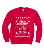 Funny Merry Christmas Ya Filthy Animal Red Ugly... - $26.95