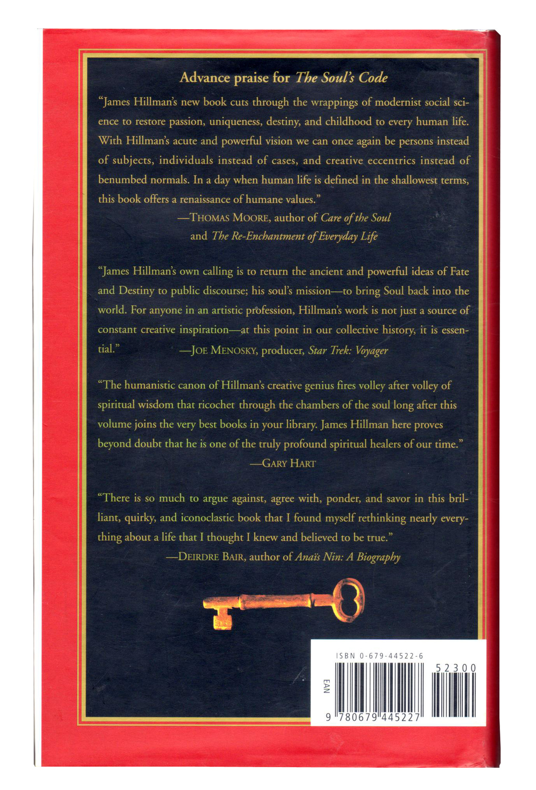 The Soul's Code: In Search of Character and Calling. James Hillman (Hardcover)