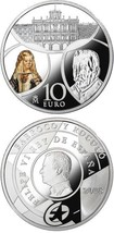 Spain, Europa Star Series - Baroque & Rococo Silver 10 Euro Proof Coin - $162.29