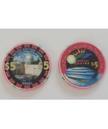 1999 Limited Edition SunCruz Israel $5 Casino Chip and $5 SunCruz Casino... - $4.99