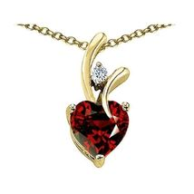 7MM OR 9MM HEART SHAPE GARNET PENDANT SOLID 14K YELLOW OR WHITE GOLD SETTING image 7