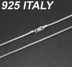 Nickel Free Italian 925 Silver Bizmark Chain Necklace Different Size Available - $16.34+