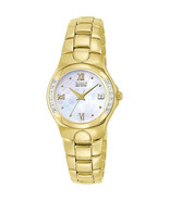 Citizen EW0244-52D Women's Diamond Eco-Drive MOP Dial Gold Stainless Steel Watch - $177.63