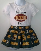 Embroidered Infant T-Shirt, Skirt & Hair Clip - Future Packers Fan Size 2T - $21.95