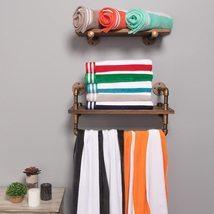 "Cabana Stripes 100% Cotton Over-sized Beach Towel 34"" x 64"" - $28.95"
