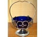 Cobalt blue glass condiment dish basket england 1 thumb155 crop