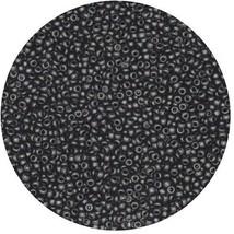 Czech Glass Seed Beads Size 14/0 Opaque Black - $9.92