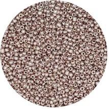 Czech Glass Seed Beads Size 13 Metallic Light Gold - $8.92