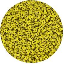 Czech Glass Seed Beads Size 8/0 Yellow Black Stripe - $11.94