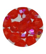 Faceted Fire Polish Beads Czech Glass 8mm Hyacinth AB - $7.94