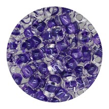Glass Triangle Bead 5/0 Japan  Sparkle Dark Amethyst Lined - $7.94