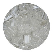 Flat Rectangle Bead Glass 3x5mm Czech Transparent Luster Crystal - $7.94
