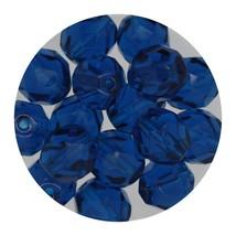 Faceted Fire Polish Beads Czech Glass 8mm Capri - $7.94