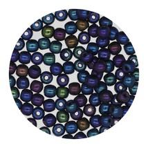 Tiny Round Glass Beads 3mm Czech Blue Iris - $6.94