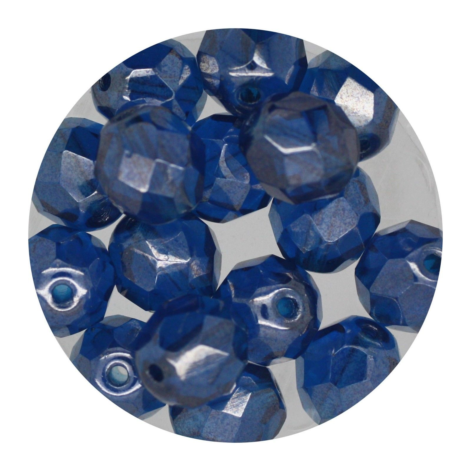 Primary image for Faceted Fire Polish Beads Czech Glass 8mm Luster Capri