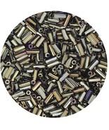 Czech Glass Bugle Beads Size 2 Metallic Brown Iris - $9.97