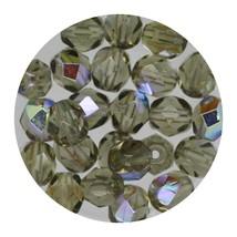 Faceted Fire Polish Beads Czech Glass 6mm Blk Diamond AB - $7.94