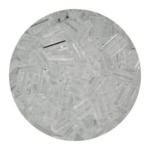 Flat Rectangle Bead Glass 3x5mm Czech Crystal - $7.94