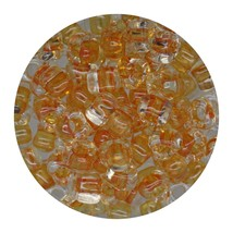 Glass Triangle Bead 5/0 Japan  Lined Crystal Amber - $7.94