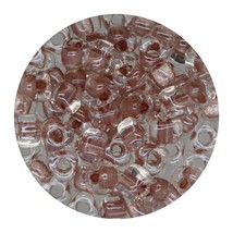 Glass Triangle Bead 5/0 Japan  Sparkle Peach Lined - $7.94