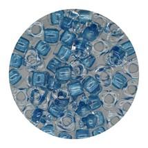 Glass Triangle Bead 5/0 Japan  Sparkle Blue Lined - $7.94