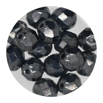 Faceted Fire Polish Beads Czech Glass 8mm Luster Montana - $7.94