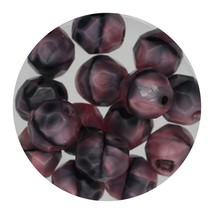 Faceted Fire Polish Beads Czech Glass 8mm Gray Pink Ombre - $7.94