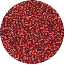 Czech Glass Seed Beads Size 9/0 3 cut Red Rocaille - $10.44
