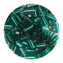 Flat Rectangle Bead Glass 3x5mm Czech Emerald Rocaille - $7.94